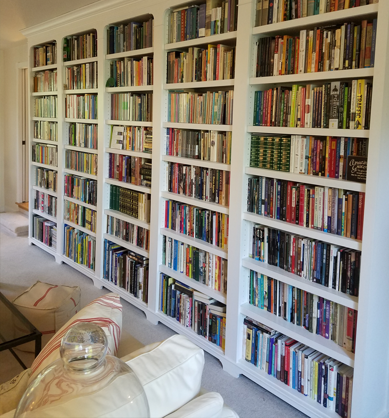 custom book case built-in