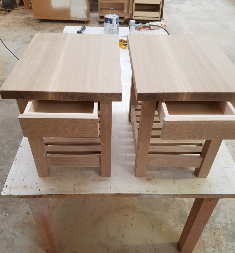 custom end tables