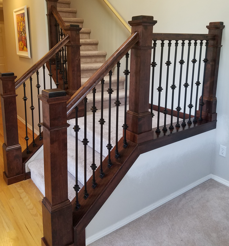 custom stair case millwork